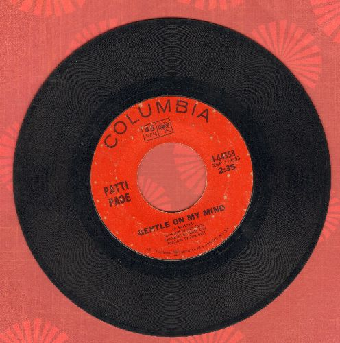 Page, Patti - Gentle On My Mind/Excuse Me  - VG7/ - 45 rpm Records