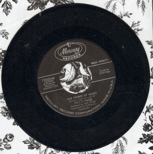 Page, Patti - The Sound Of Music/Little Donkey (sol) - VG7/ - 45 rpm Records