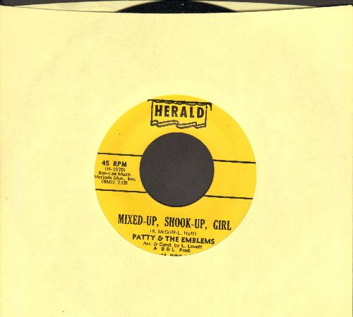 Patty & The Emblems - Mixed-Up, Shook-Up Girl/Ordinary Guy (NICE condition!) - NM9/ - 45 rpm Records