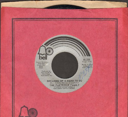 Partridge Family - Breaking Up Is Hard To Do/I'm Here, You're Here (with Bell company sleeve) - VG7/ - 45 rpm Records