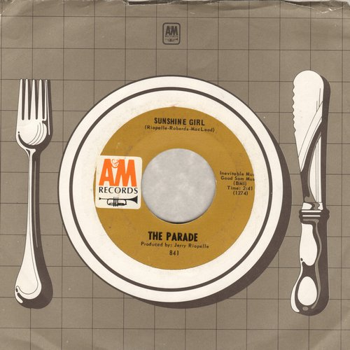 Parade - Sunshine Girl/This Old Melody (with A&M company sleeve) - NM9/ - 45 rpm Records