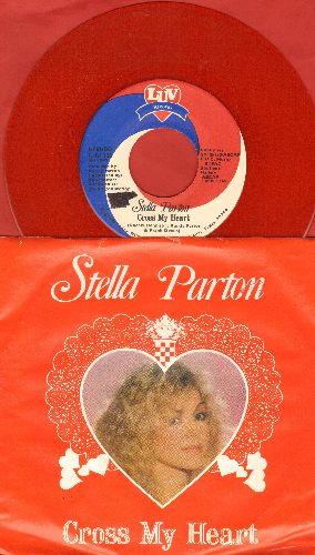 Parton, Stella - Cross My Heart/Heart Don't Fail Me Now (RED VINYL pressing with piture sleeve) - NM9/EX8 - 45 rpm Records