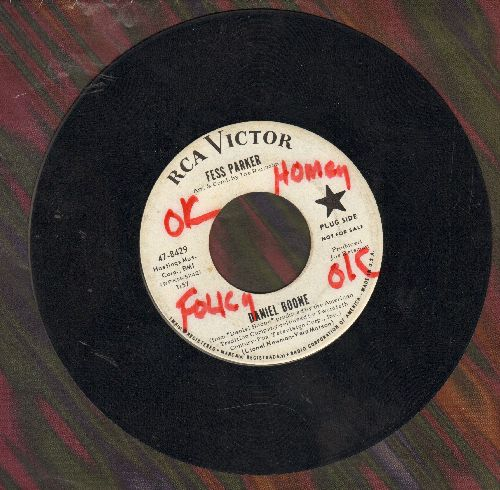 Parker, Fess - Daniel Boone/The Ballad Of Davey Crockett (DJ advance pressing, wol) - EX8/ - 45 rpm Records