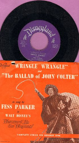 Parker, Fess - Wringle Wrangle/The Ballad Of John Colter - EX8/VG6 - 45 rpm Records