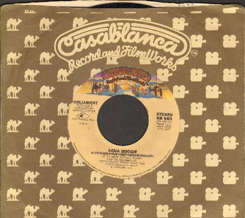 Parliament - Aqua Boogie/(You're A Fish And I'm A) Water Sign (with Casablanca company sleeve) - NM9/ - 45 rpm Records