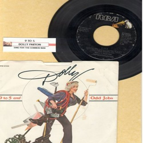 Parton, Dolly - 9 to 5/Sing For the Common Man (w/pic) - NM9/EX8 - 45 rpm Records