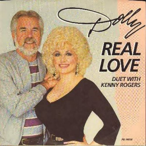 Parton, Dolly & Kenny Rogers - Real Love/I Can't Be True (with picture sleeve) - M10/EX8 - 45 rpm Records