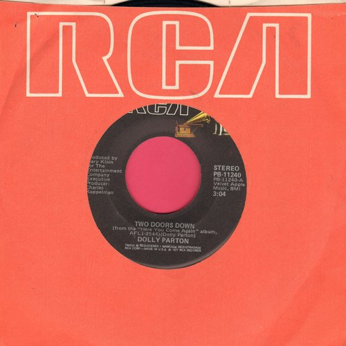 Parton, Dolly - Two Doors Down/It's All Wrong But It's All Right - NM9/ - 45 rpm Records