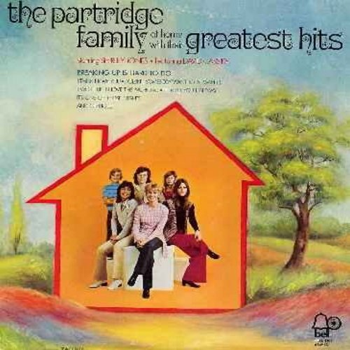 Partridge Family - At Home With Their Greatest Hits: Breaking Up Is Hard To Do, I Think I Love You, I Woke Up In Love This Morning, I'll Meet You Halfway, Doesn't Somebody Want To Be Wanted (vinyl STEREO LP record) - EX8/VG7 - LP Records