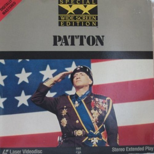 Patton - Patton - The Epic Oscar Winning War Drama on 2 Laser Disc Set, gate-fold cover , Wide Screed Edition (This is a set of 2 Laser Discs, not any other kind of media!)  - NM9/NM9 - Laser Discs
