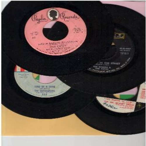 Fred, John & His Playboy Band, Joe Jeffrey Group, Mamas & Papas, Buckinghams - Groovy 60s 4-Pack: First issue original 45s, all in very good or better condition. Hits include Judy In Disguise (With Glasses), Dancing In The Street, Kind Of A Drag,My Pledge