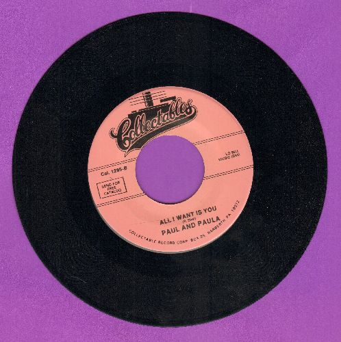 Paul & Paula - All I Want Is You/Hey Paula (double-hit re-issue) - NM9/ - 45 rpm Records