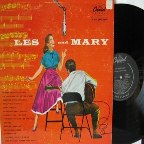 Paul, Les & Mary Ford - Les And Mary: Twelfth Street Rag, Moritat (Mack The Knife), Just One Of Those Things, Tico Tico (vinyl MONO LP record, black label) - EX8/VG7 - LP Records