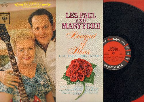 Paul, Les & Mary Ford - Bouquet Of Roses - 12 All-Time Country Favorites: I'll Never Be Free, End Of The World, She'll Have To Go, Four Walls (vinyl STEREO LP record) - NM9/EX8 - LP Records