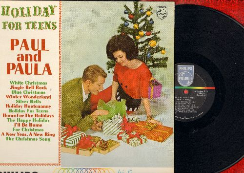 Paul & Paula - Holiday For Teens: Jingle Bell Rock, Winter Wonderland, Holiday Hootenanny, A New Year - A New Ring, Home For The Holidays, Blue Christmas (vinyl MONO LP record) - VG7/EX8 - LP Records