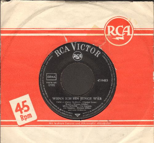 Pavone,. Rita - Wenn ich ein Junge waer/Okay! Okay! (GERMAN Pressing with RCA company sleeve, sung in German) - EX8/ - 45 rpm Records