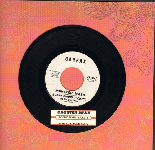 Pickett, Bobby (Boris) - Monster Mash/Monster's Mash Party (White Garpax Label first issue, NICE condition!) - EX8/ - 45 rpm Records