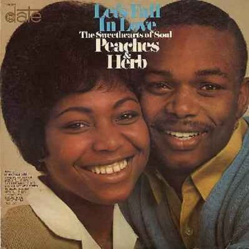 Peaches & Herb - Let's Fall In Love: Close Your Eyes, When I Fall In Love, I'm In The Mood For Love, Will You Love Me Tomorrow, We Belong Together, Just One Look, True Love (vinyl MONO LP record) - EX8/EX8 - LP Records
