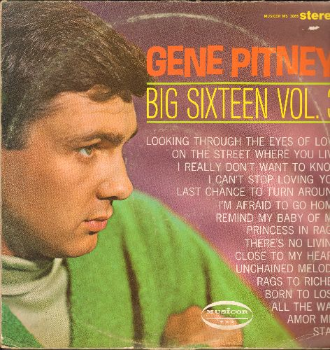 Pitney, Gene - Big 16 Vol. 3: Unchained Melody, On The Street Where You Live, Born To Lose (vinyl STEREO LP record) - NM9/VG7 - LP Records
