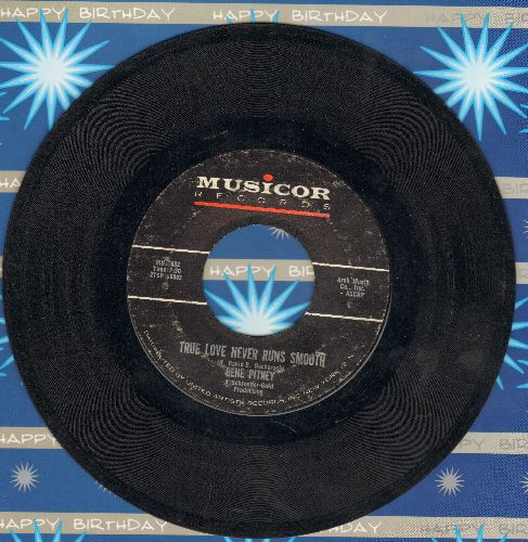 Pitney, Gene - True Love Never Runs Smooth/Donna Means Heartbreak (with juke box label) - VG7/ - 45 rpm Records