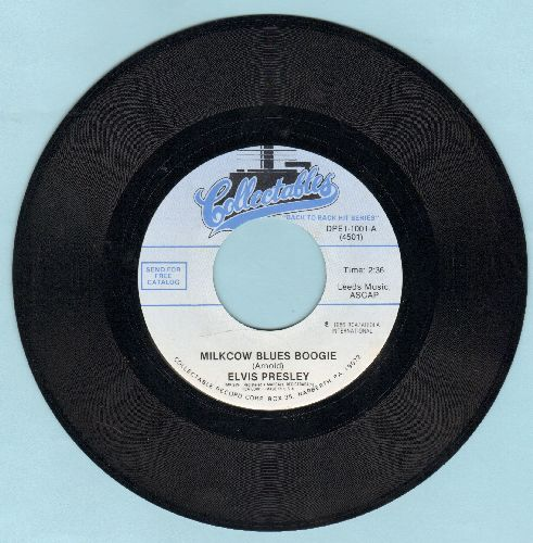 Presley, Elvis - Milkcow Blues Boogies/You're A Heartbreaker (double-hit re-issue) - M10/ - 45 rpm Records
