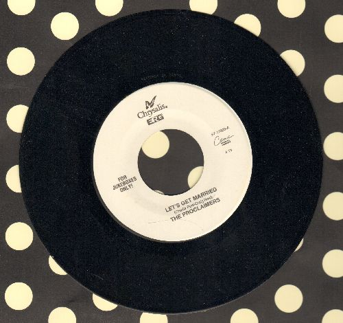 Proclaimers - Let's Get Married/Letter From America (Band Version) (Juke Box Pressing) - NM9/ - 45 rpm Records