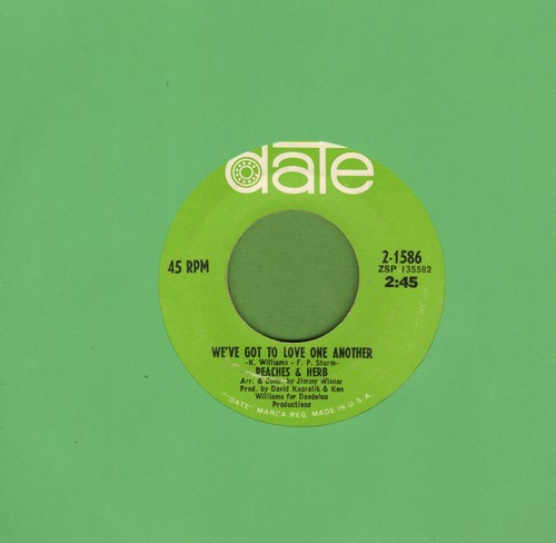 Peaches & Herb - Two Little Kids/We've Got To Love One Another (bb) - EX8/ - 45 rpm Records