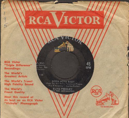 Presley, Elvis - Bossa Nova Baby/Witchcraft (with RCA company sleeve) - VG7/ - 45 rpm Records