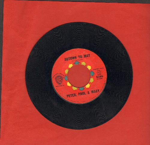 Peter, Paul & Mary - Autumn To May/Don't Think Twice, It's Alright - VG7/ - 45 rpm Records