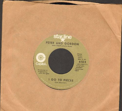 Peter & Gordon - I Go To Pieces/Love Me, Baby (double-hit re-issue) - EX8/ - 45 rpm Records