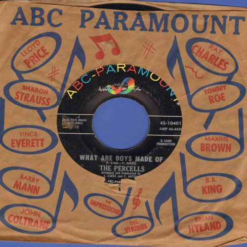 Percells - What Are Boys Made Of/Cheek To Cheek (with vintage ABC-Paramount company sleeve) - VG7/ - 45 rpm Records