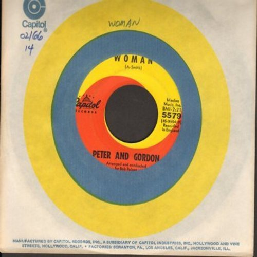 Peter & Gordon - Woman/Wrong From The Start (with Capitol company sleeve) - EX8/ - 45 rpm Records