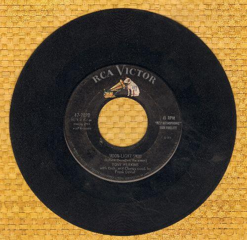 Perkins, Tony - Moon-Light Swim/First Romance  - VG7/ - 45 rpm Records
