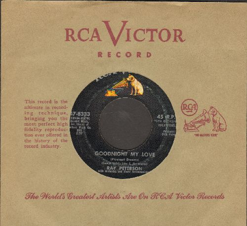Peterson, Ray - Goodnight My Love/The Wonder Of You (RARE two-sider with RCA company sleeve) - EX8/ - 45 rpm Records