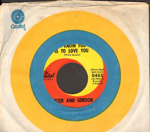 Peter & Gordon - To Know You Is To Love You/I Told You So (with Capitol company sleeve) - EX8/ - 45 rpm Records