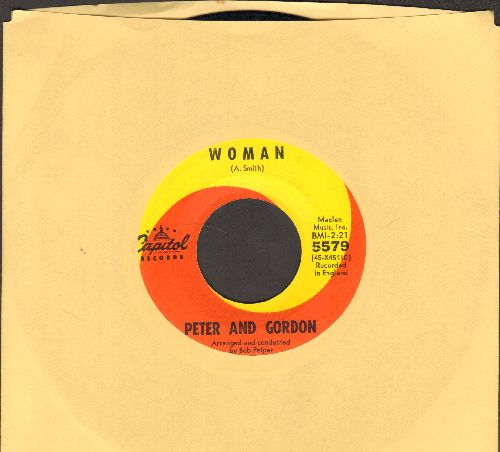 Peter & Gordon - Woman/Wrong From The Start - EX8/ - 45 rpm Records