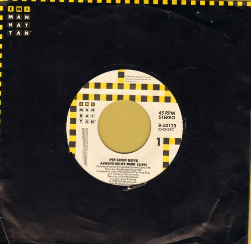 Pet Shop Boys - Always On My Mind/Do I Have To? - NM9/ - 45 rpm Records