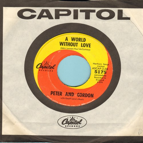 Peter & Gordon - A World Without Love/If I Were You (with Capitol company sleeve) - EX8/ - 45 rpm Records