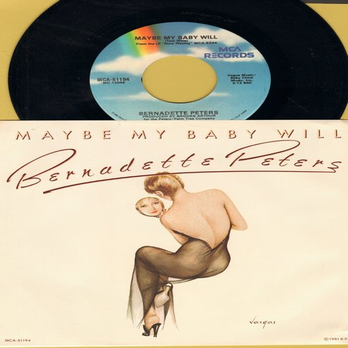 Peters, Bernadette - Maybe My Baby Will/The Weekend Of A Private Secretary (with picture sleeve) - NM9/NM9 - 45 rpm Records