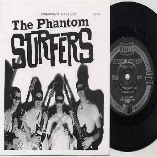 Phantom Surfers - Aye, Five Gold/Erotica/Surf Rider/Banzi Washout/Orbitron (7 inch 33rpm Mini-LP with small hole, 5 tracks, British Pressing with picture sleeve, shipping same as 45rpm record) - M10/M10 - 45 rpm Records
