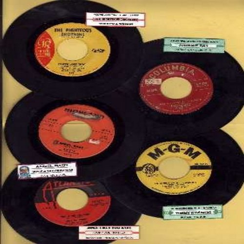 Edwards, Tommy, Ivory Joe Hunter, Johnnie Ray, Rosie & The Originals, Righteous Brothers - 5-Pack of Original First-Issue Hit 45s, all in very good or better condition, each with juke box label and plain white paper sleeve. Hit titles include Morning Side