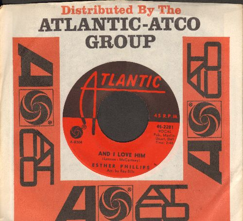 Phillips, Esther - And I Love Him/Shangri-La (with Atlantic company sleeve) - VG7/ - 45 rpm Records