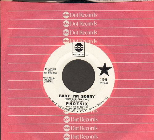 Phoenix - Baby I'm Sorry (What More Can I Say)/Postmark N.Y.C. (DJ advance pressing with company sleeve) - NM9/ - 45 rpm Records