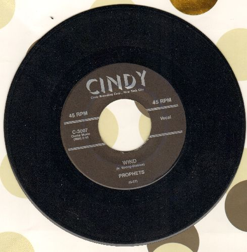 Prophets - Wind/Blue Lights Down Low (by The Three Vales on flip-side) (re-issue) - NM9/ - 45 rpm Records