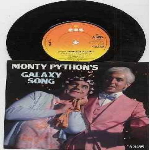 Monty Python - Galaxy Song/Every Sperm Is Sacred (both songs featued in film -Monty Python's Meaning Of Life-) (British Pressing with picture sleeve, small hole) - M10/M10 - 45 rpm Records