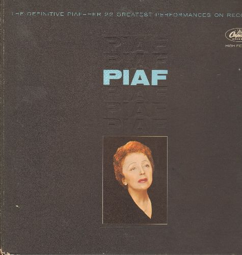 Piaf, Edith - The Definitive Piaf - Her 22 Greatest Performances On records (2 vinyl MONO LP records, gate-fold cover) - NM9/EX8 - LP Records
