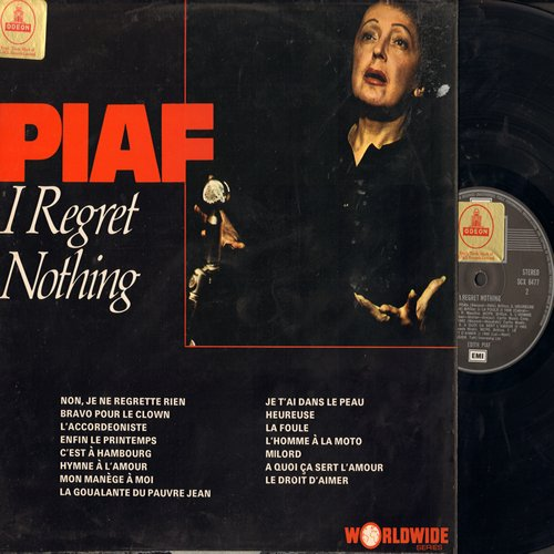 Piaf, Edith - I Regret Nothing: L'Accordeoniste, Milord, Non Je Ne Regrette Rien (vinyl STEREO LP record, British Pressing) - NM9/VG7 - LP Records