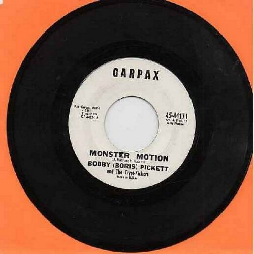 Pickett, Bobby (Boris) - Monsters' Holiday/Monster Motion (RARE follow-up to novelty hit Monster Mash)  - EX8/ - 45 rpm Records
