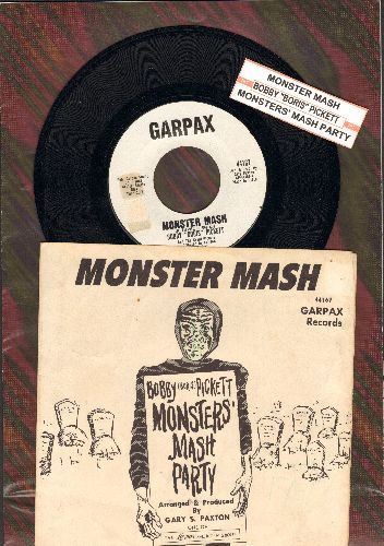 Pickett, Bobby (Boris) - Monster Mash/Monster's Mash Party (White Garpax Label first issue, NICE condition with RARE piture sleeve and juke box label!)(wos) - NM9/VG7 - 45 rpm Records