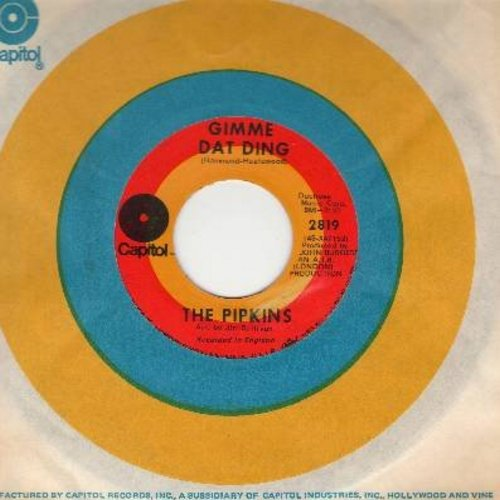 Pipkins - Gimme Dat Ding (Theme from Benny Hill Show)/To Love You (with Capitol company sleeve) - EX8/ - 45 rpm Records